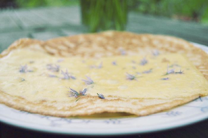 Blüten Pfannkuchen