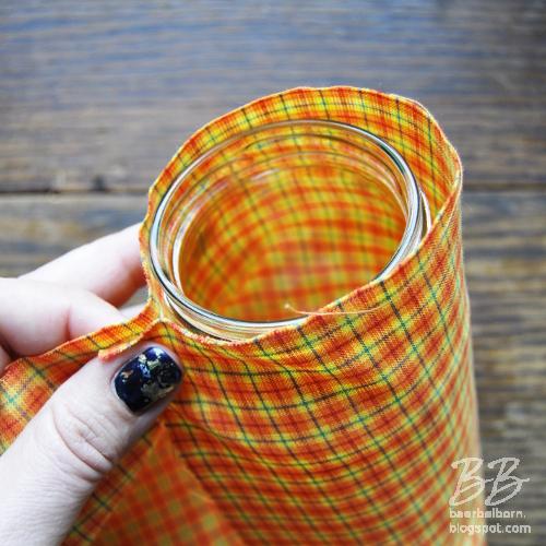 rüsche vase tutorial