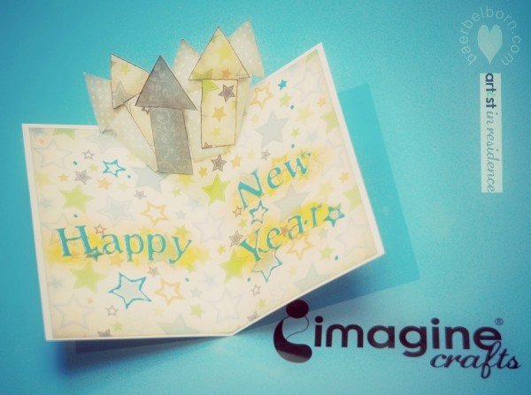 new years pop up card