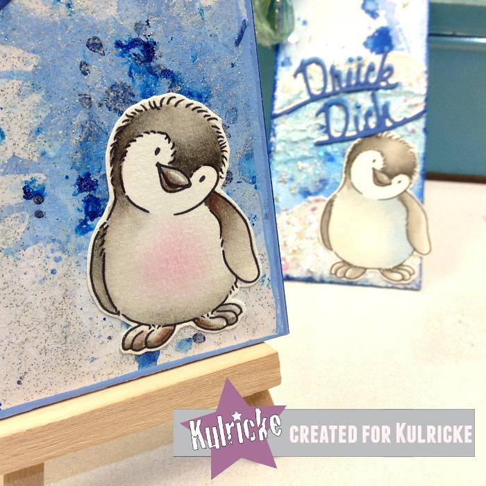 Pinguin Stempel von Kulricke gezeichnet von Bärbel Born