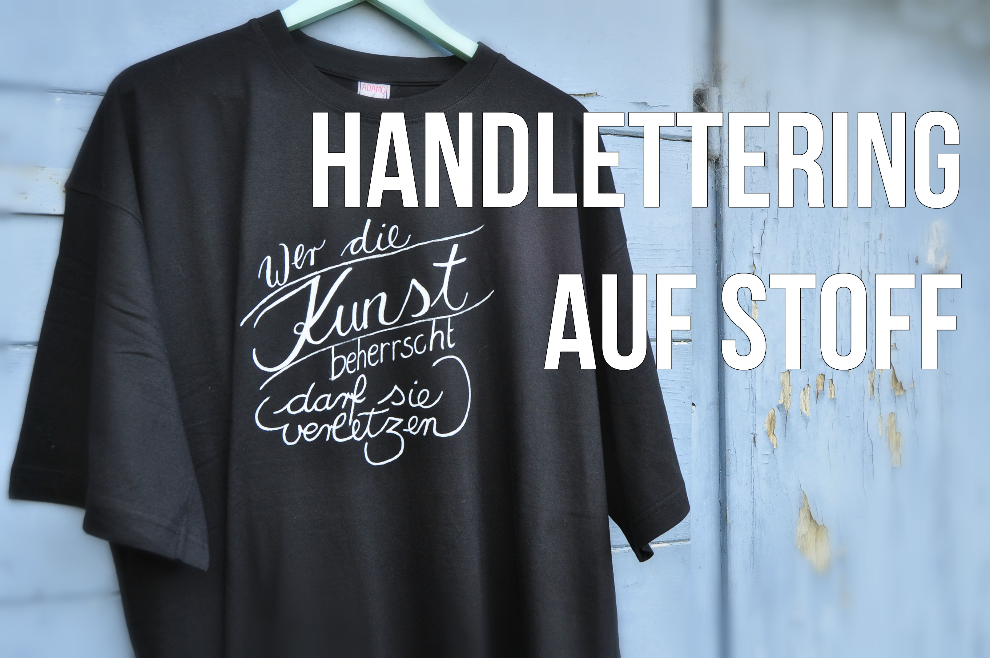 handlettering auf stoff selbermachenguru. Black Bedroom Furniture Sets. Home Design Ideas