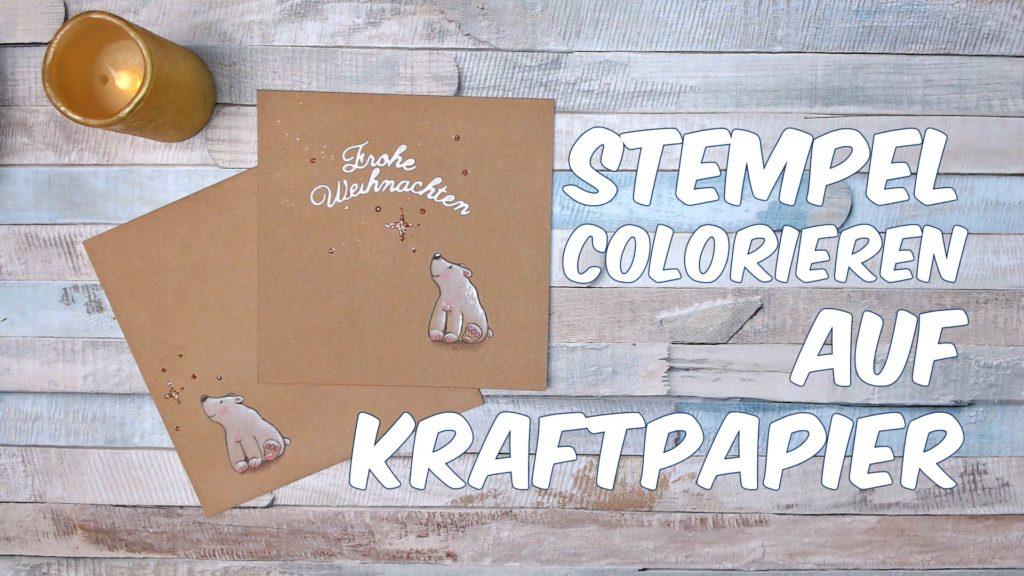 Colorieren auf Kraftpapier