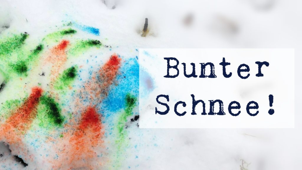Bunter Schnee mit Color Burst