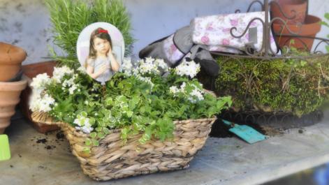 Blumenkorb mit Foto